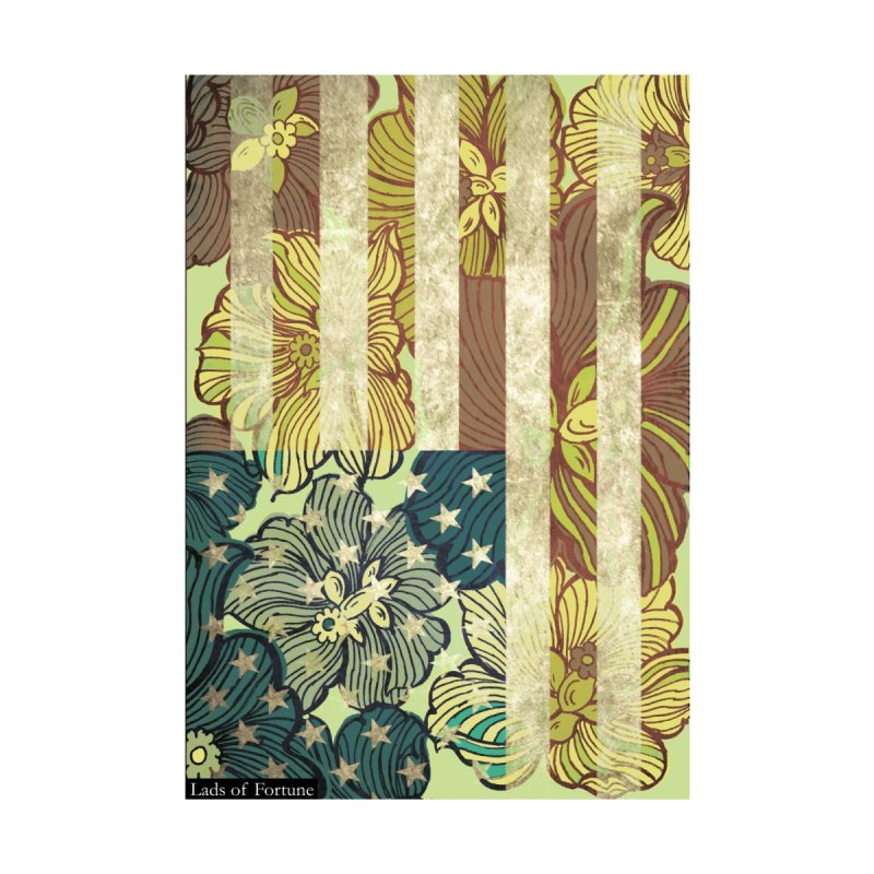 Floral Flag Hue None  by Lads of Fortune Artist Shop
