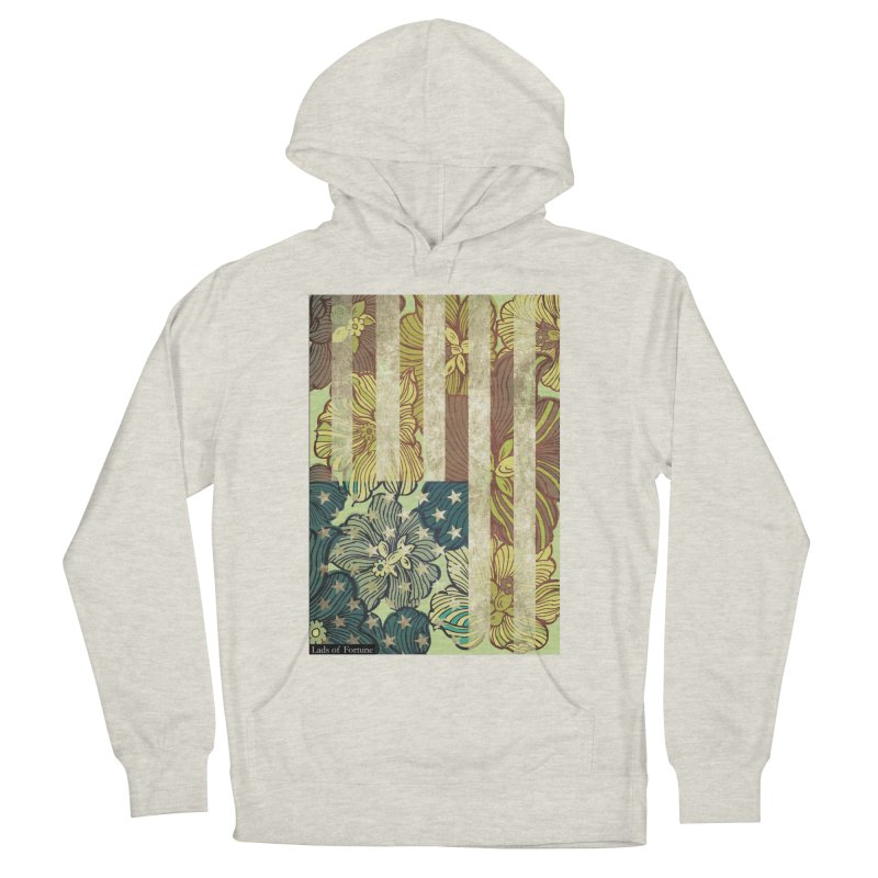Floral Flag Hue Women's French Terry Pullover Hoody by Lads of Fortune Artist Shop