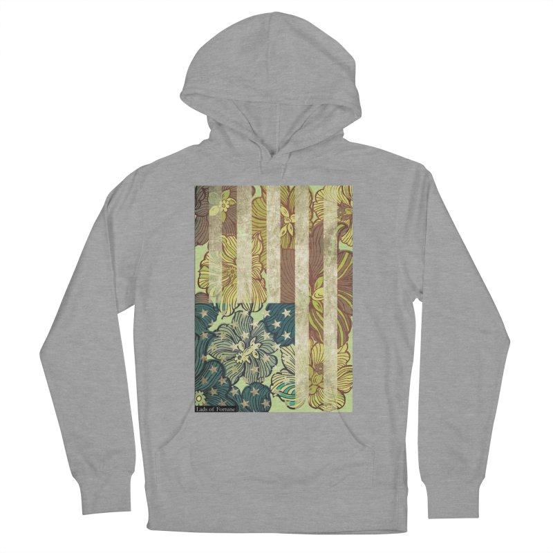 Floral Flag Hue Men's French Terry Pullover Hoody by Lads of Fortune Artist Shop