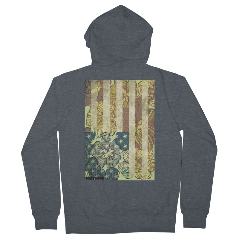 Floral Flag Hue Women's Zip-Up Hoody by Lads of Fortune Artist Shop