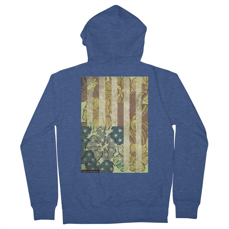 Floral Flag Hue Men's Zip-Up Hoody by Lads of Fortune Artist Shop