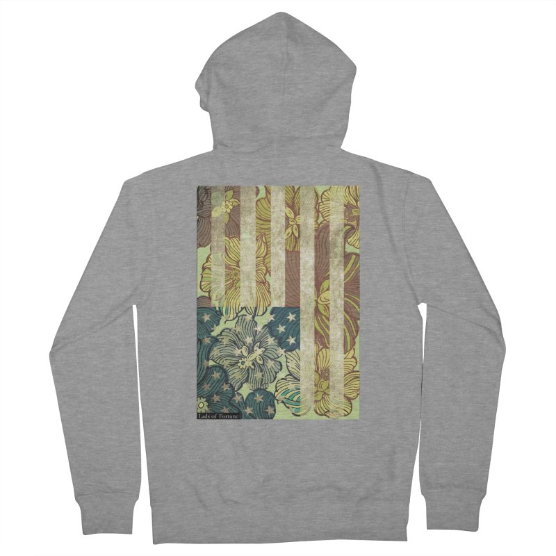 Floral Flag Hue Men's French Terry Zip-Up Hoody by Lads of Fortune Artist Shop