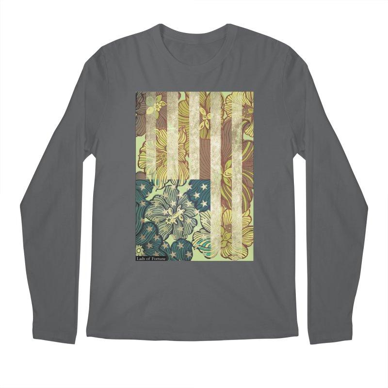 Floral Flag Hue Men's Regular Longsleeve T-Shirt by Lads of Fortune Artist Shop