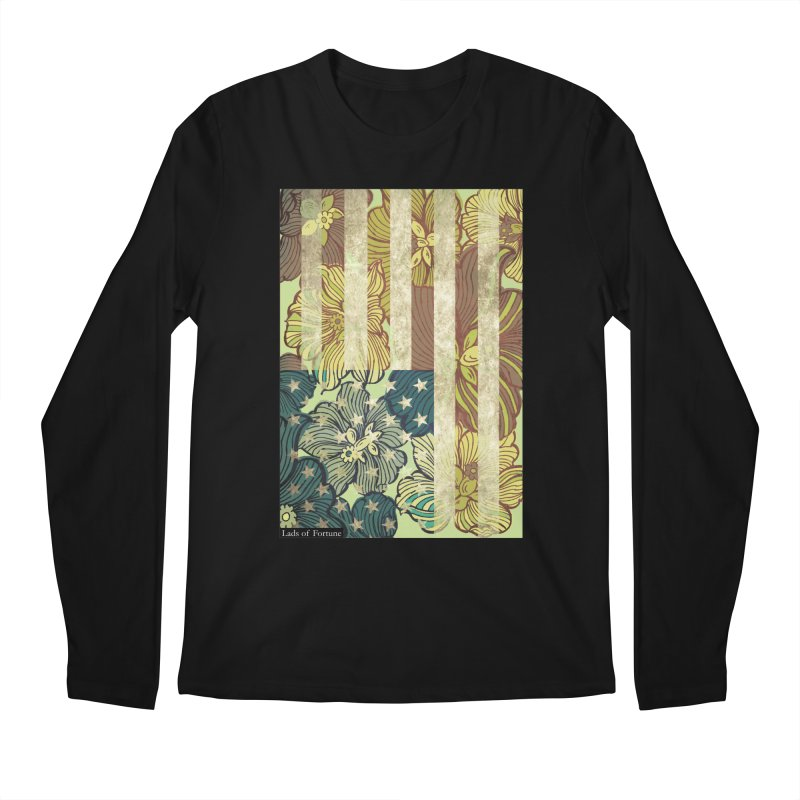 Floral Flag Hue Men's Regular Longsleeve T-Shirt by Lads of Fortune Artist Shop