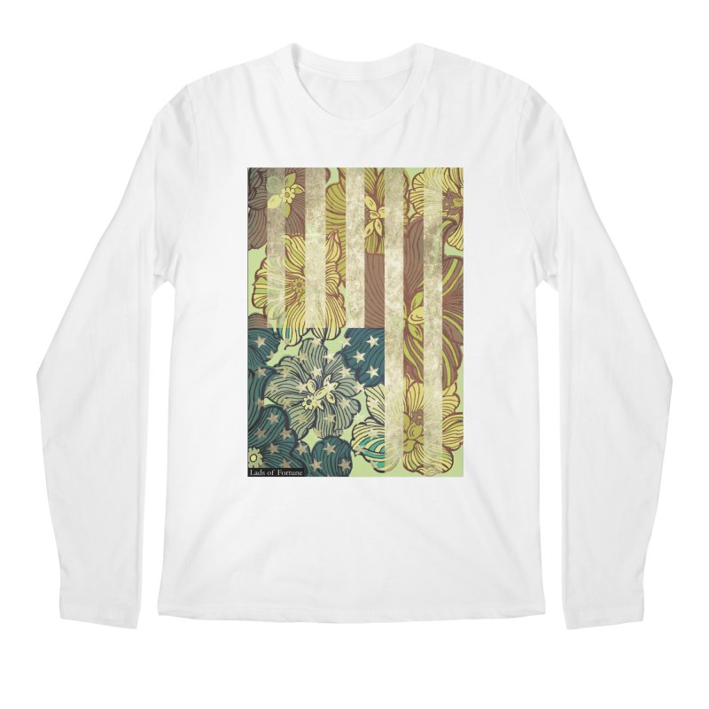 Floral Flag Hue Men's Longsleeve T-Shirt by Lads of Fortune Artist Shop