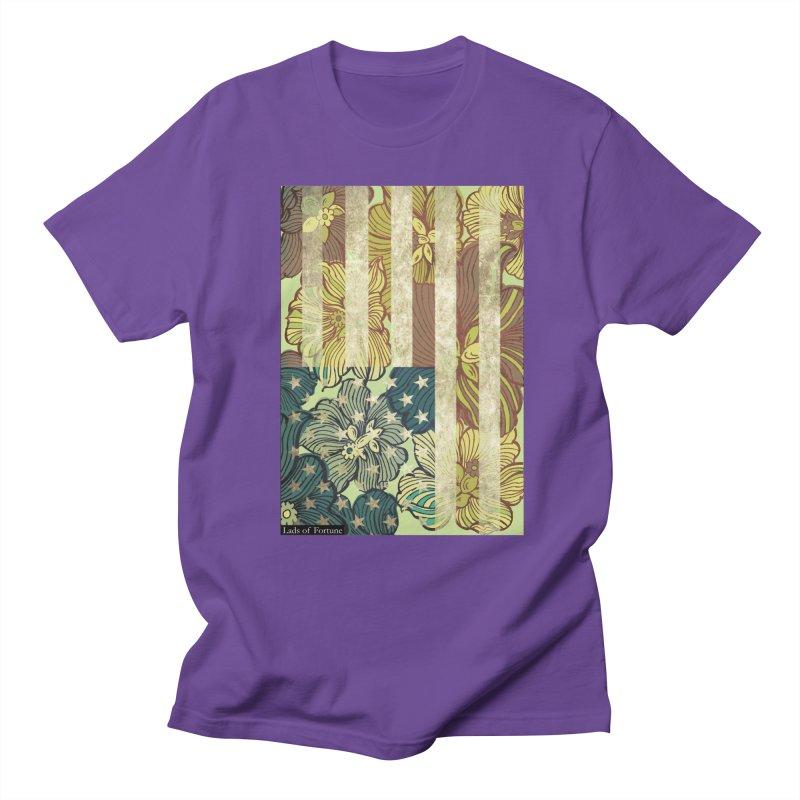 Floral Flag Hue Men's T-shirt by Lads of Fortune Artist Shop