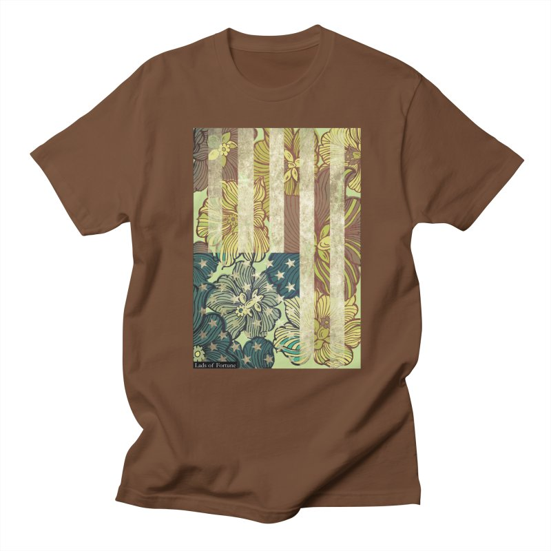 Floral Flag Hue Men's T-Shirt by Lads of Fortune Artist Shop