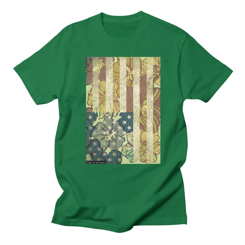 Floral Flag Hue Men's Regular T-Shirt by Lads of Fortune Artist Shop