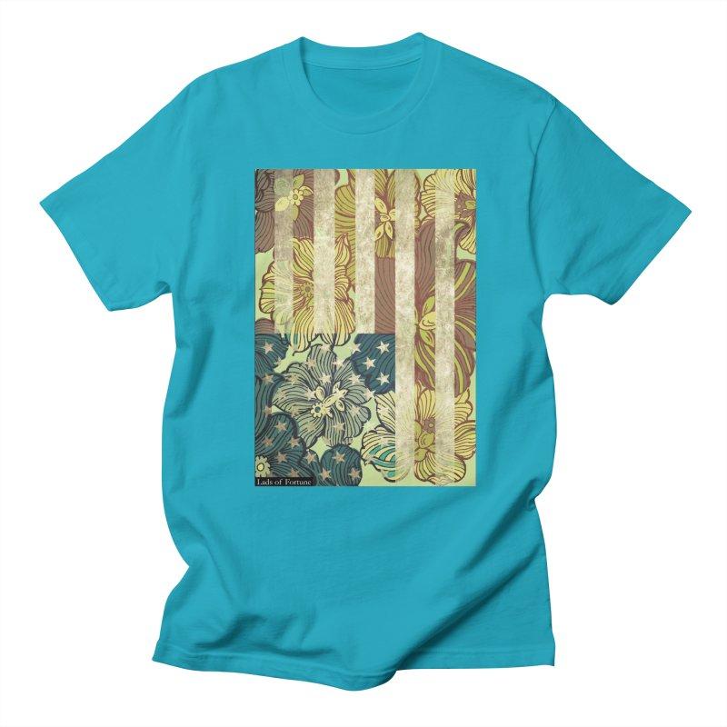 Floral Flag Hue Men's Regular T-Shirt by Lads of Fortune Artist Shop