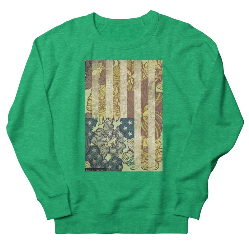 Floral Flag Hue Women's French Terry Sweatshirt by Lads of Fortune Artist Shop