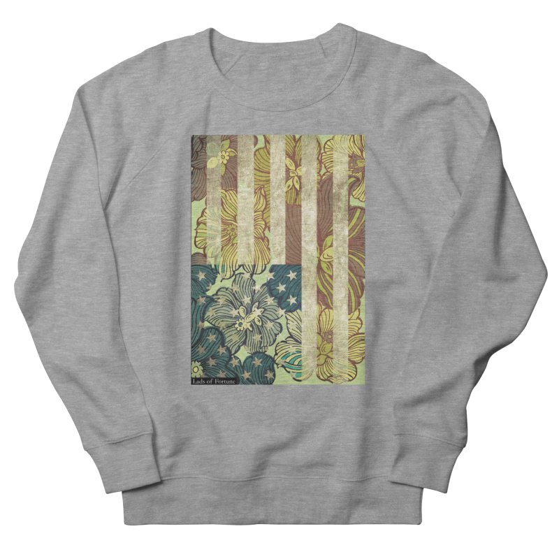 Floral Flag Hue Men's French Terry Sweatshirt by Lads of Fortune Artist Shop