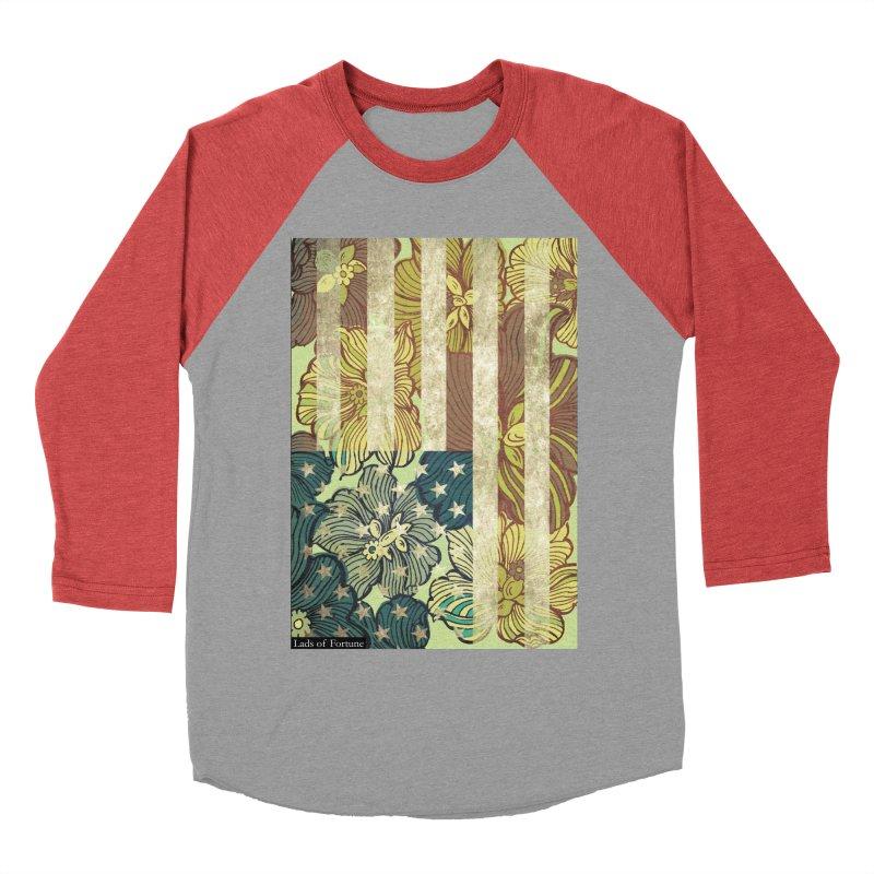 Floral Flag Hue Women's Baseball Triblend Longsleeve T-Shirt by Lads of Fortune Artist Shop