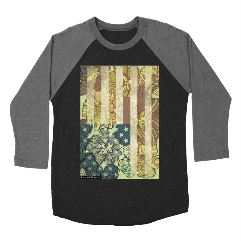 Floral Flag Hue Women's Baseball Triblend Longsleeve T-Shirt by Lads of Fortune Artist Shop