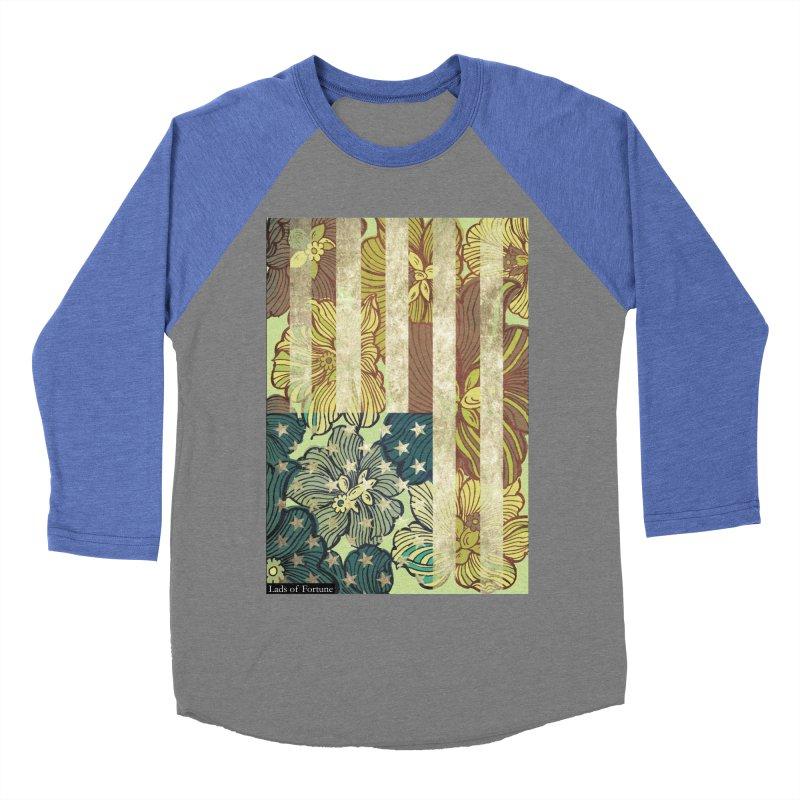 Floral Flag Hue Men's Baseball Triblend Longsleeve T-Shirt by Lads of Fortune Artist Shop