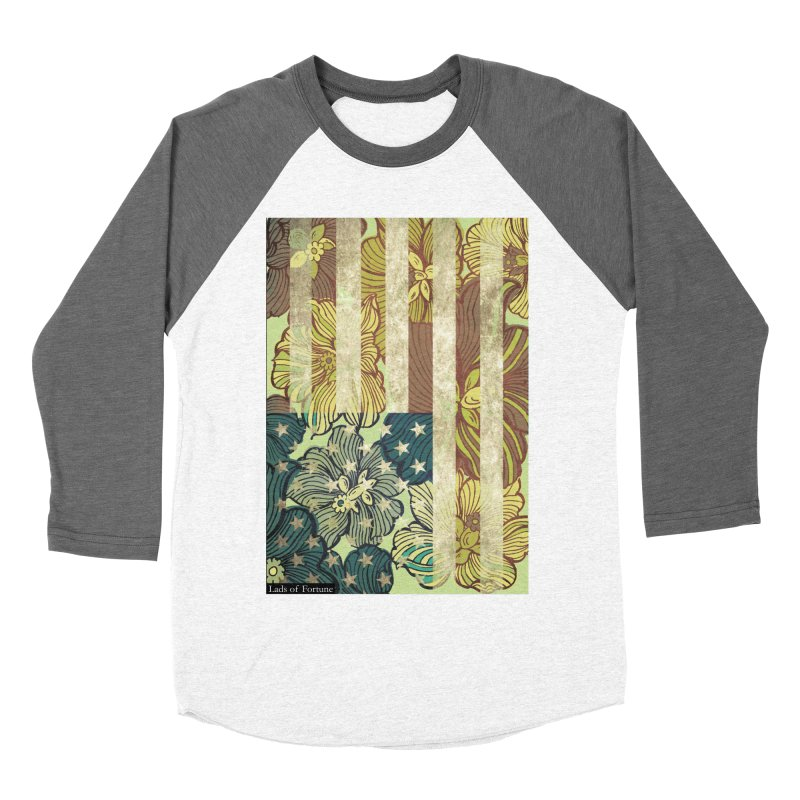 Floral Flag Hue Men's Baseball Triblend T-Shirt by Lads of Fortune Artist Shop