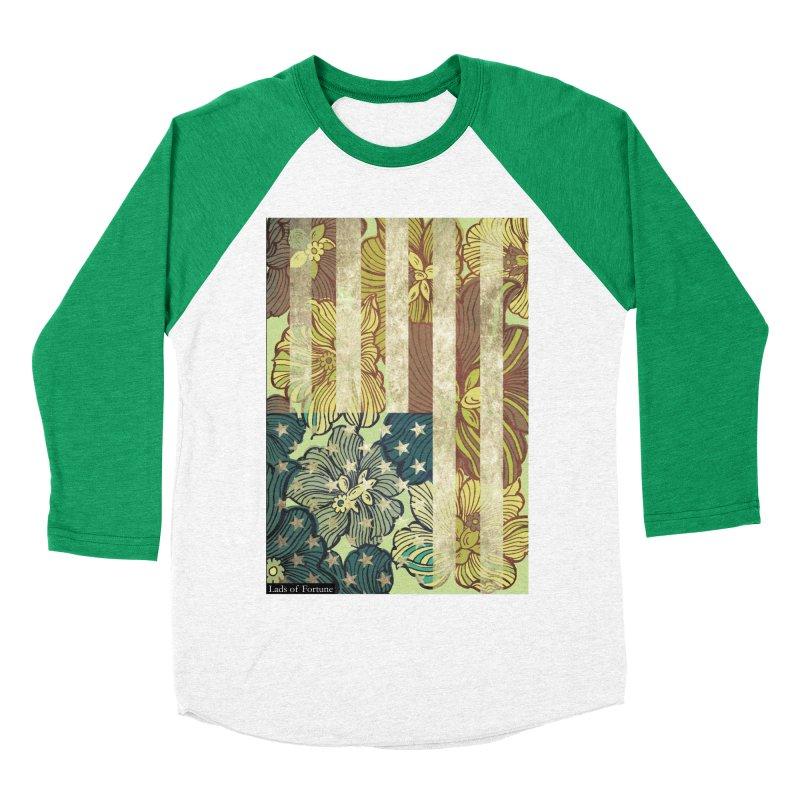 Floral Flag Hue Men's Baseball Triblend T-Shirt by Lads of Fortune Artist Shop