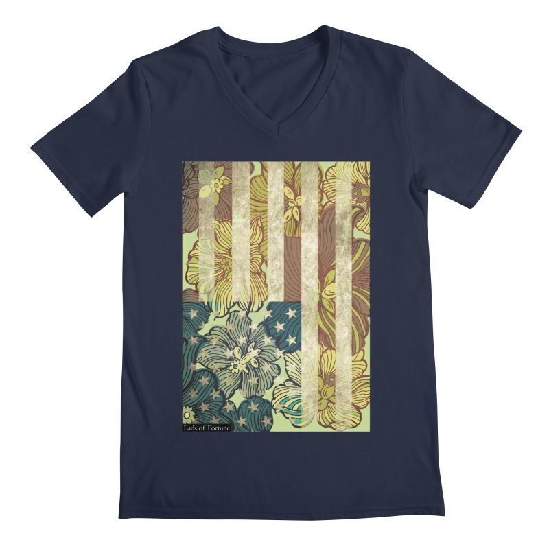 Floral Flag Hue Men's V-Neck by Lads of Fortune Artist Shop