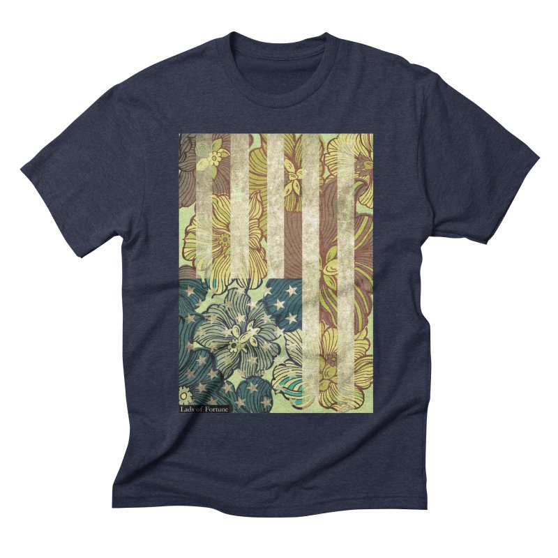 Floral Flag Hue Men's Triblend T-shirt by Lads of Fortune Artist Shop