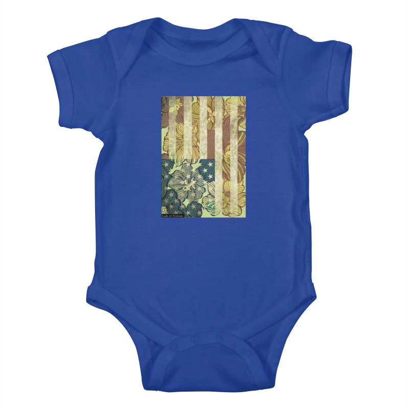 Floral Flag Hue Kids Baby Bodysuit by Lads of Fortune Artist Shop