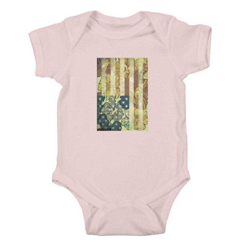 Floral Flag Hue Kids Baby Bodysuit by Lads of Fortune Artist Shop