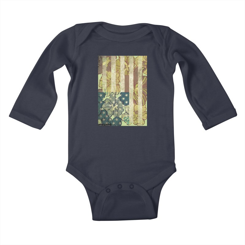 Floral Flag Hue Kids Baby Longsleeve Bodysuit by Lads of Fortune Artist Shop