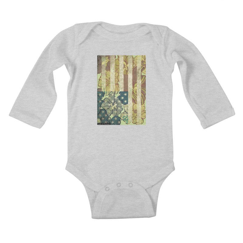 Floral Flag Hue Kids Baby Longsleeve Bodysuit by Lads of Fortune Artist Shop