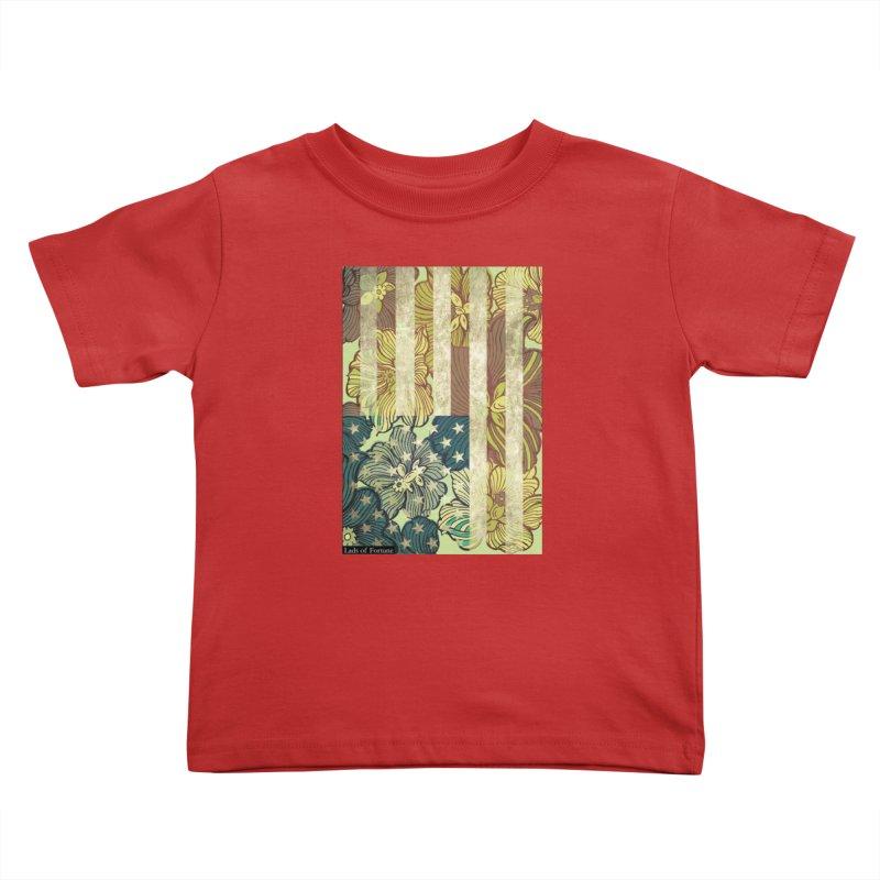 Floral Flag Hue Kids Toddler T-Shirt by Lads of Fortune Artist Shop