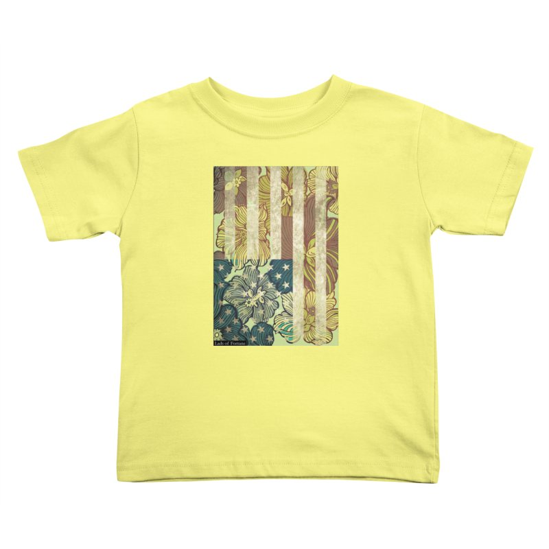 Floral Flag Hue Kids Toddler T-Shirt by Lads of Fortune Artist Shop