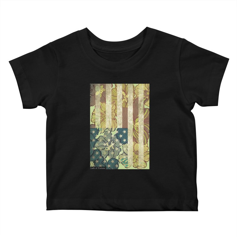 Floral Flag Hue Kids Baby T-Shirt by Lads of Fortune Artist Shop