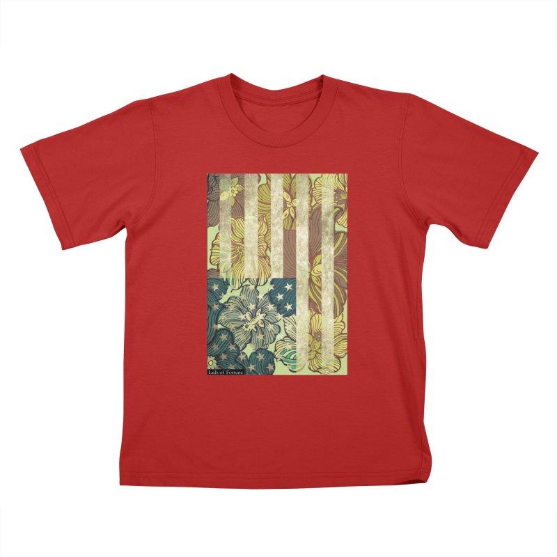 Floral Flag Hue Kids T-shirt by Lads of Fortune Artist Shop