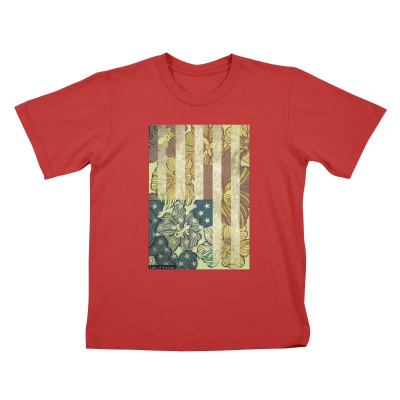 Floral Flag Hue Kids T-Shirt by Lads of Fortune Artist Shop