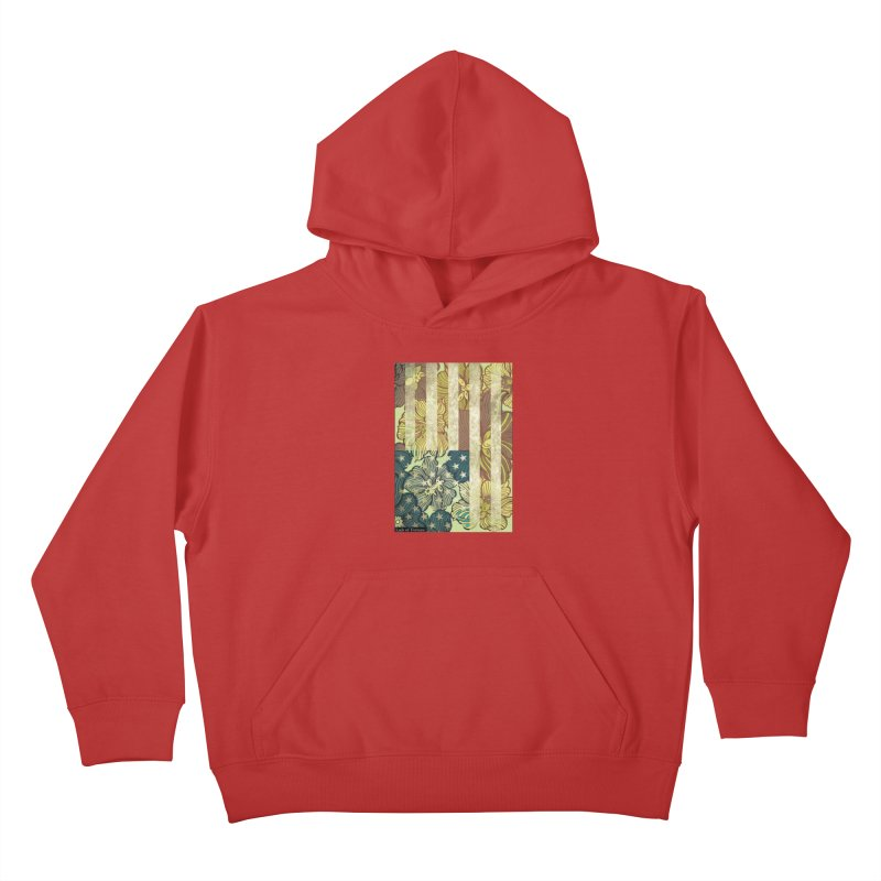 Floral Flag Hue Kids Pullover Hoody by Lads of Fortune Artist Shop