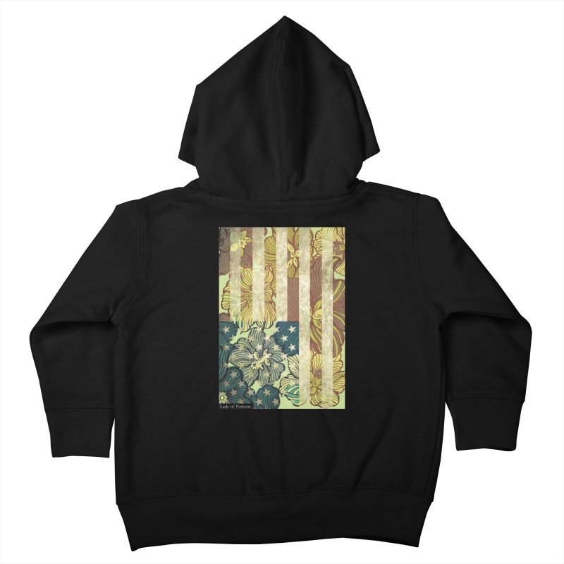 Floral Flag Hue Kids Toddler Zip-Up Hoody by Lads of Fortune Artist Shop