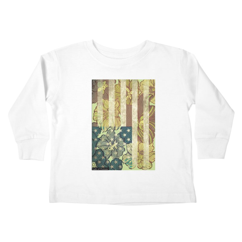 Floral Flag Hue Kids Toddler Longsleeve T-Shirt by Lads of Fortune Artist Shop