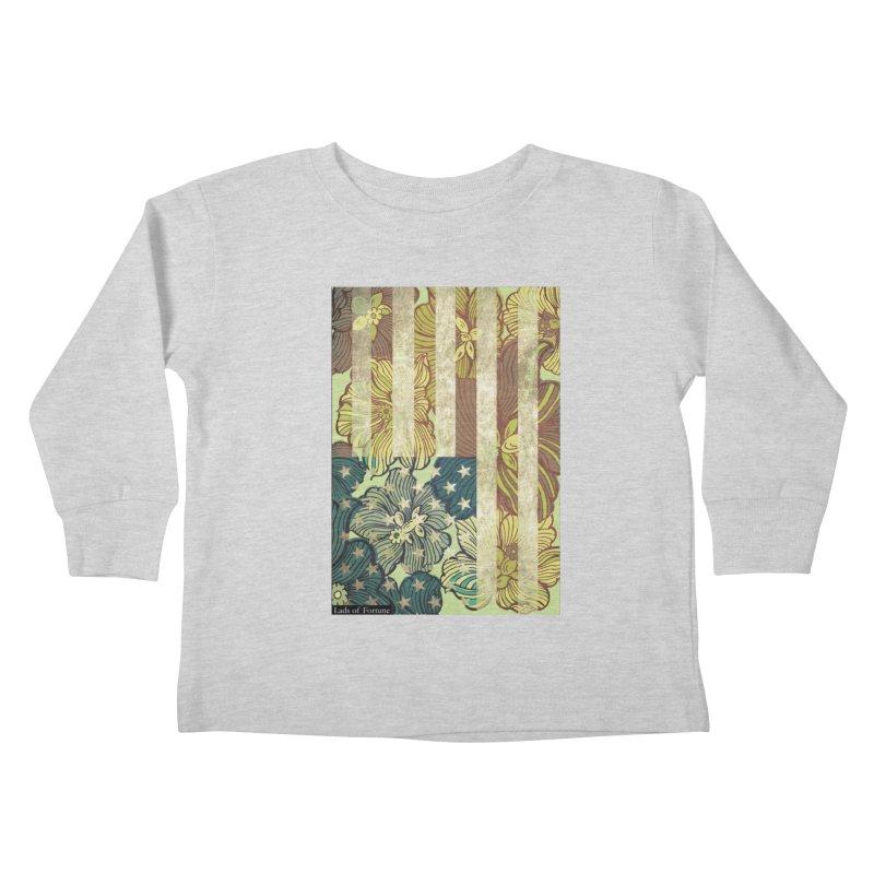 Floral Flag Hue Kids Toddler Longsleeve T-Shirt by Lads of Fortune Artist Shop