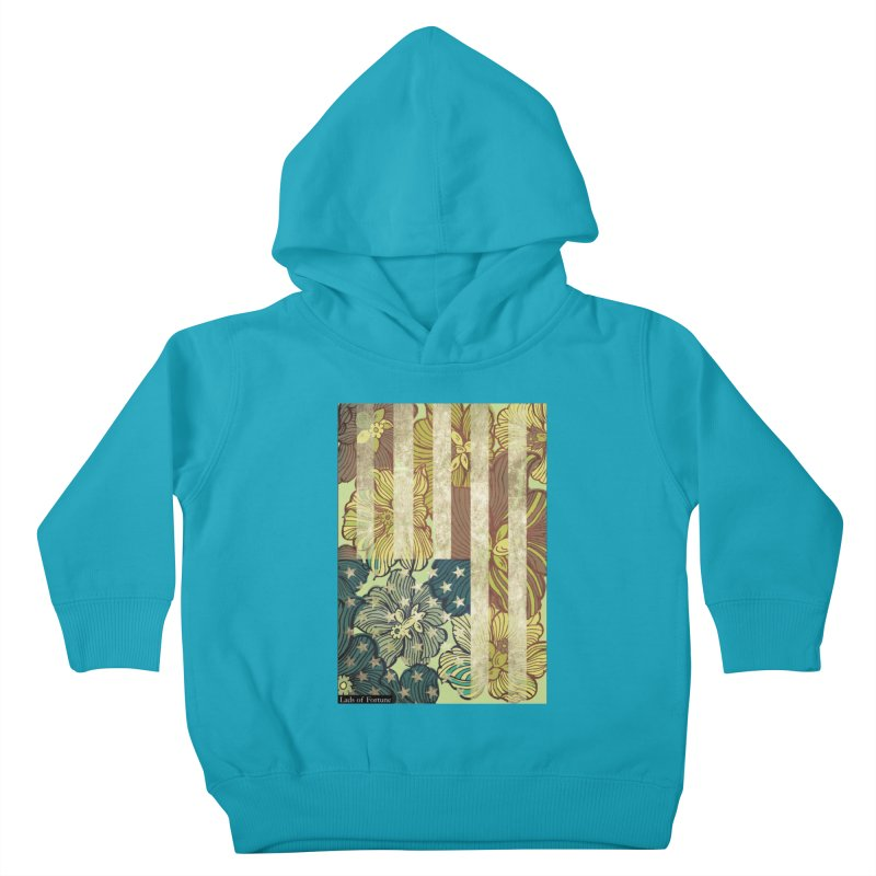 Floral Flag Hue Kids Toddler Pullover Hoody by Lads of Fortune Artist Shop