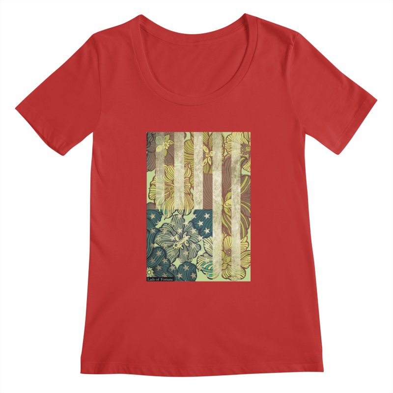 Floral Flag Hue Women's Scoopneck by Lads of Fortune Artist Shop
