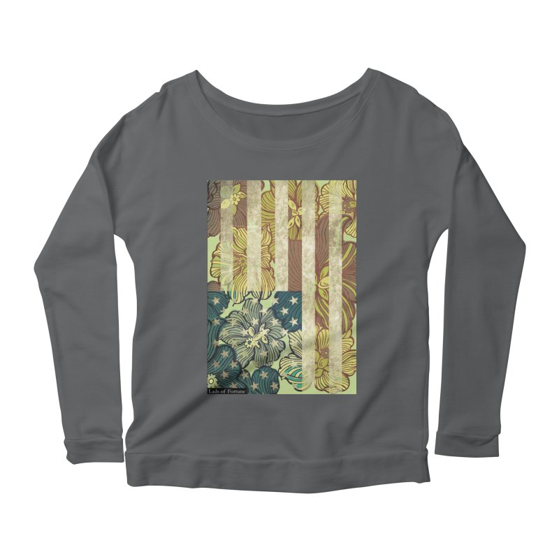 Floral Flag Hue Women's Scoop Neck Longsleeve T-Shirt by Lads of Fortune Artist Shop