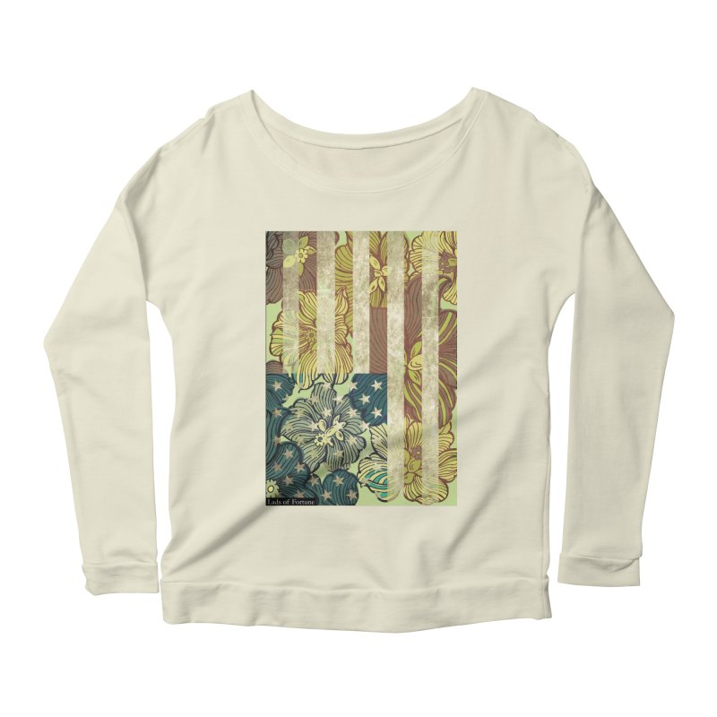 Floral Flag Hue Women's Longsleeve Scoopneck  by Lads of Fortune Artist Shop