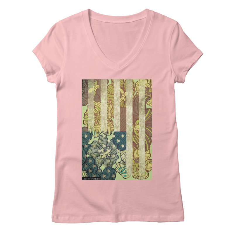 Floral Flag Hue Women's Regular V-Neck by Lads of Fortune Artist Shop
