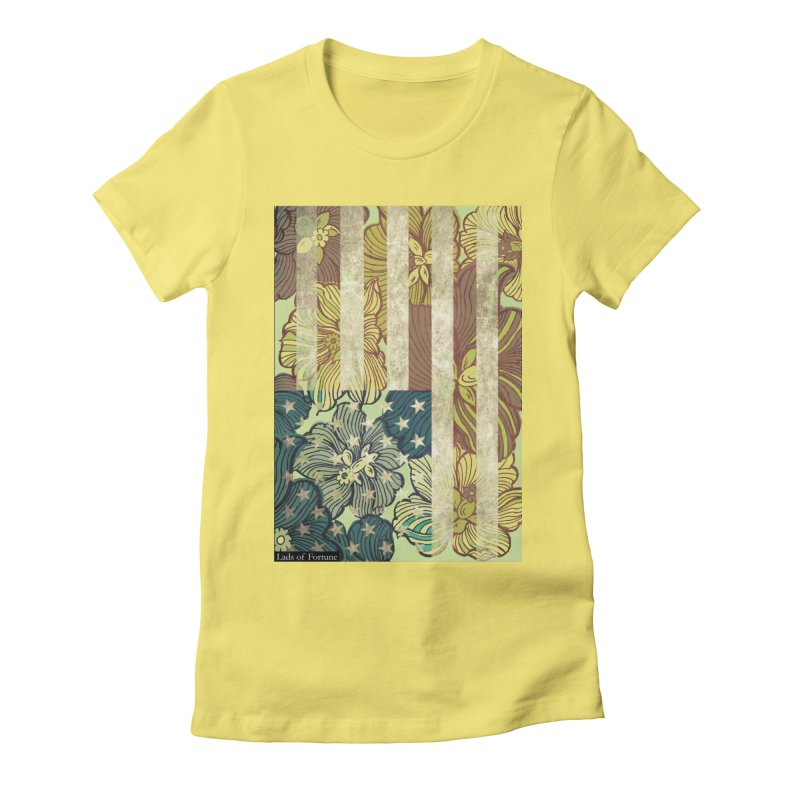 Floral Flag Hue Women's Fitted T-Shirt by Lads of Fortune Artist Shop