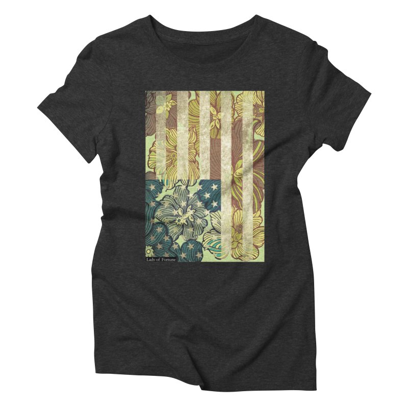 Floral Flag Hue Women's Triblend T-shirt by Lads of Fortune Artist Shop