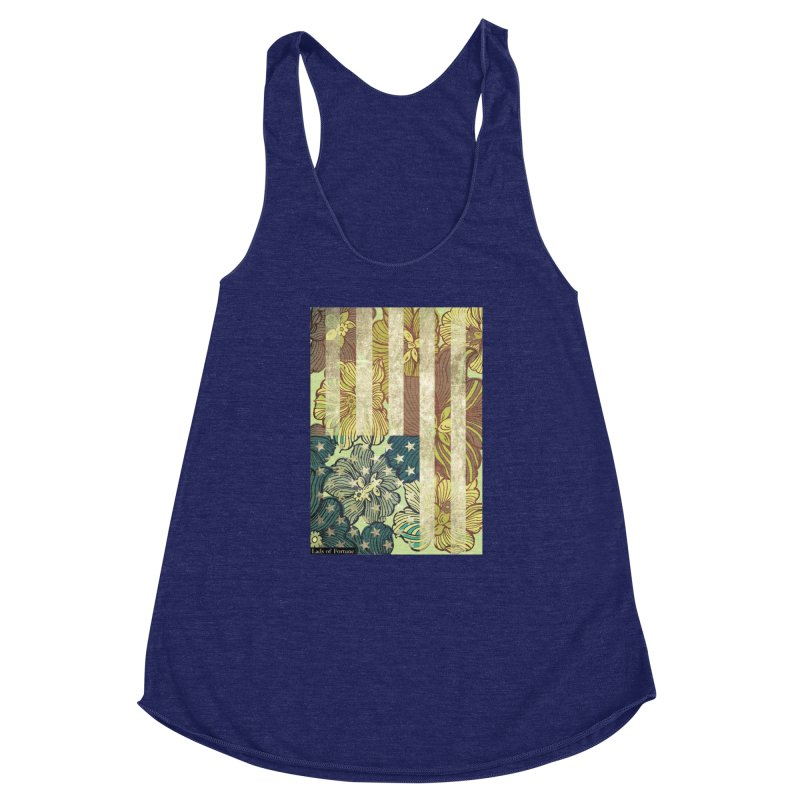 Floral Flag Hue Women's Racerback Triblend Tank by Lads of Fortune Artist Shop