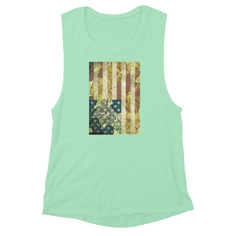 Floral Flag Hue Women's Muscle Tank by Lads of Fortune Artist Shop