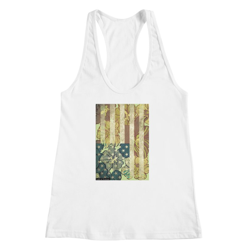 Floral Flag Hue Women's Racerback Tank by Lads of Fortune Artist Shop