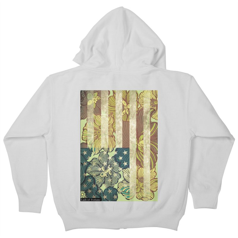 Floral Flag Hue Kids Zip-Up Hoody by Lads of Fortune Artist Shop