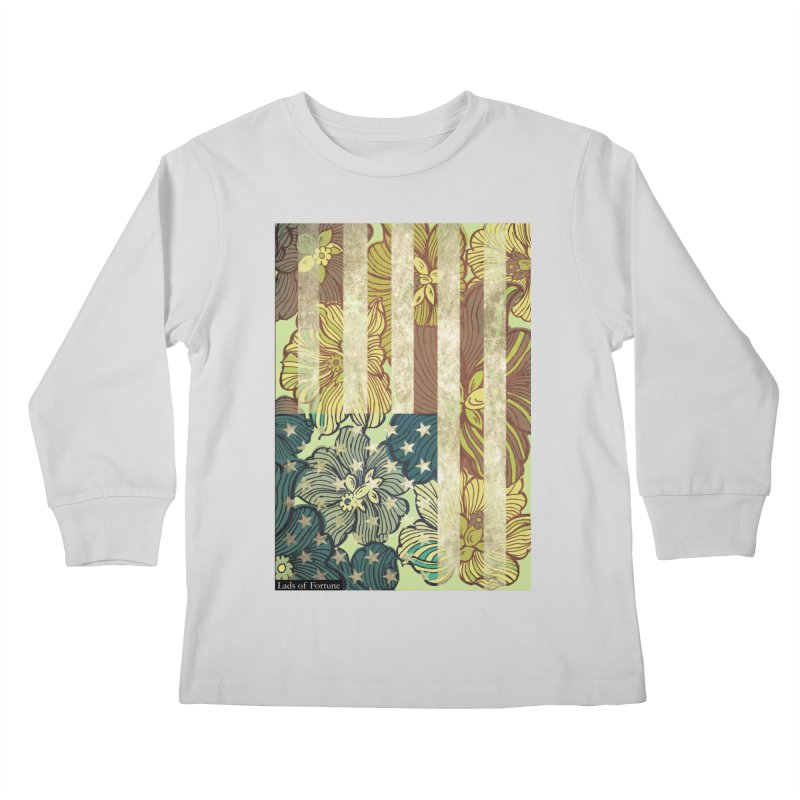 Floral Flag Hue Kids Longsleeve T-Shirt by Lads of Fortune Artist Shop