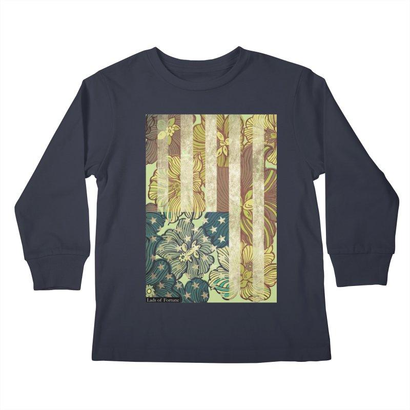 Floral Flag Hue Kids Longsleeve T-Shirt by Lads of Fortune Artist Shop
