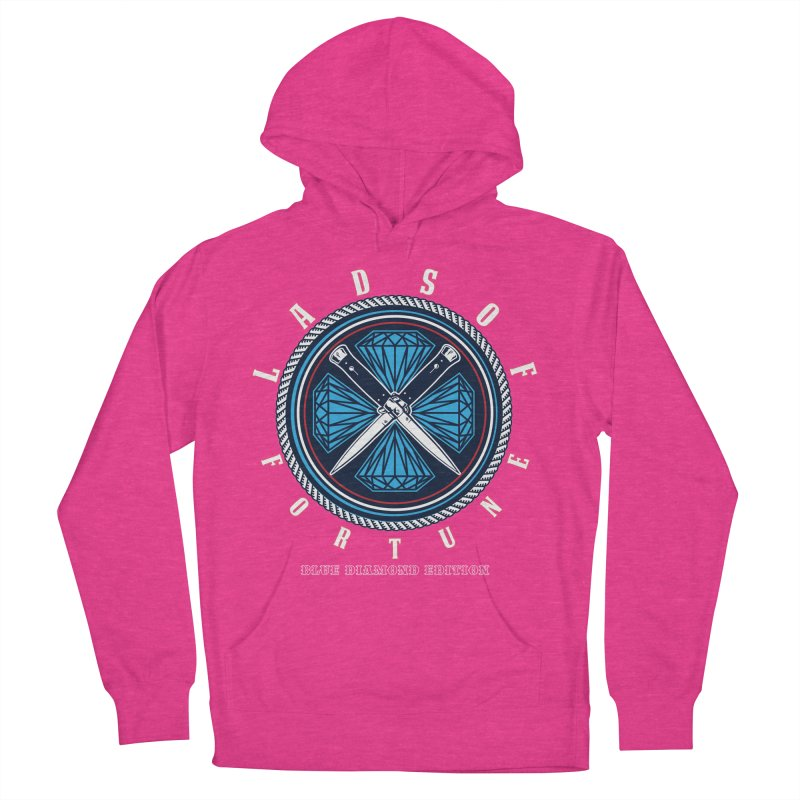 Blue Diamond Edition  Women's French Terry Pullover Hoody by Lads of Fortune Artist Shop