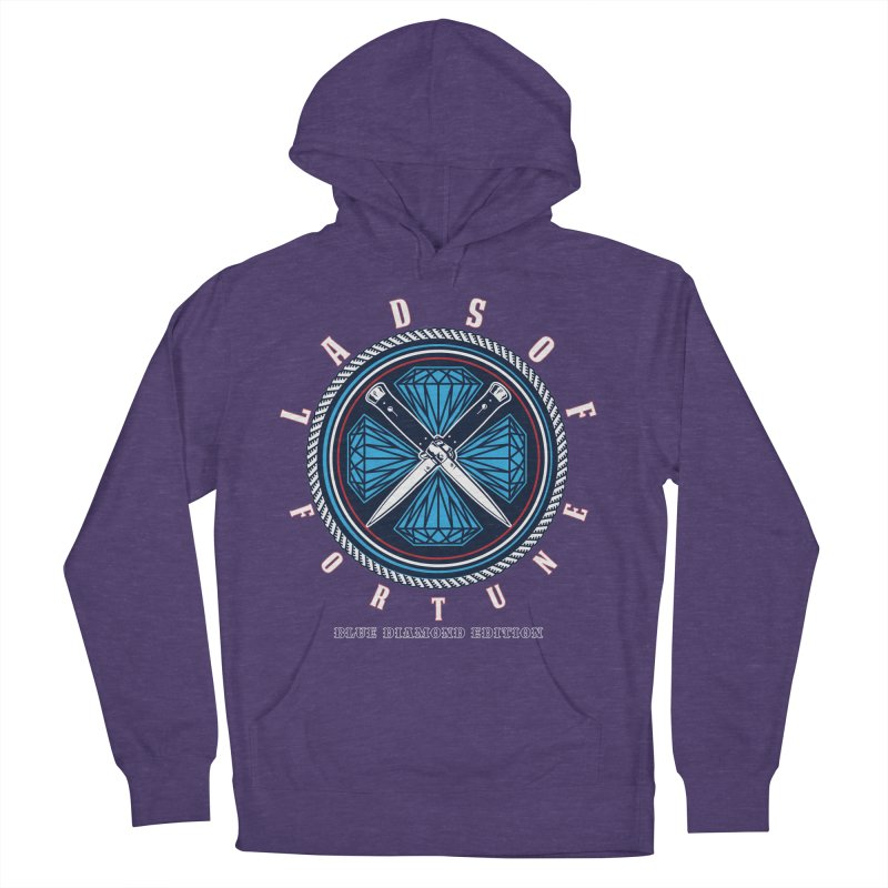 Blue Diamond Edition  Men's Pullover Hoody by Lads of Fortune Artist Shop